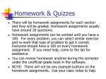 homework quizzes