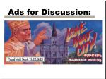 ads for discussion25