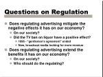 questions on regulation