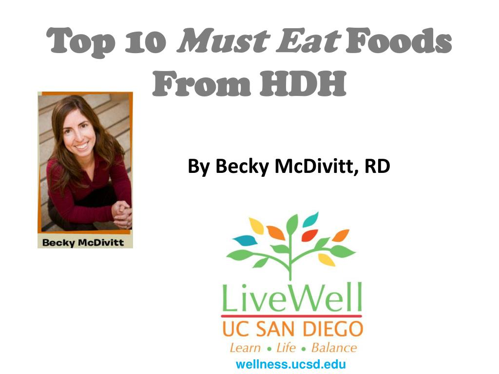 top 10 must eat foods from hdh l.