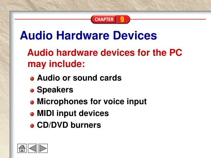 Audio Hardware Devices