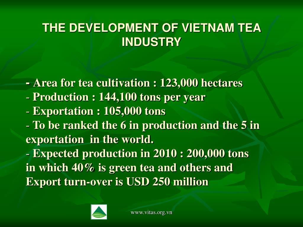 THE DEVELOPMENT OF VIETNAM TEA INDUSTRY