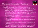 university preparatory academy