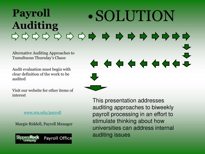 audit of payroll and personnel cycle What are the keys to auditing payroll effectively and efficiently click here for an overview of payroll risk assessment and audit procedures.