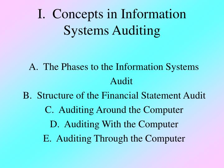 auditing in a computer information systems Auditing in information systems or external auditors who wishes to specialise in the area of computer auditing computer assisted audit.
