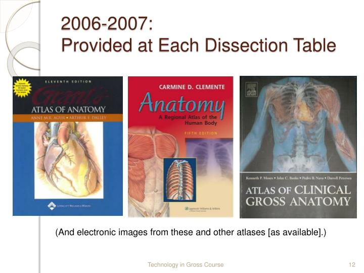 Ppt Use Of Technology In A Gross Anatomy Course Powerpoint