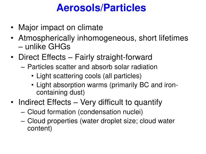 Aerosols/Particles