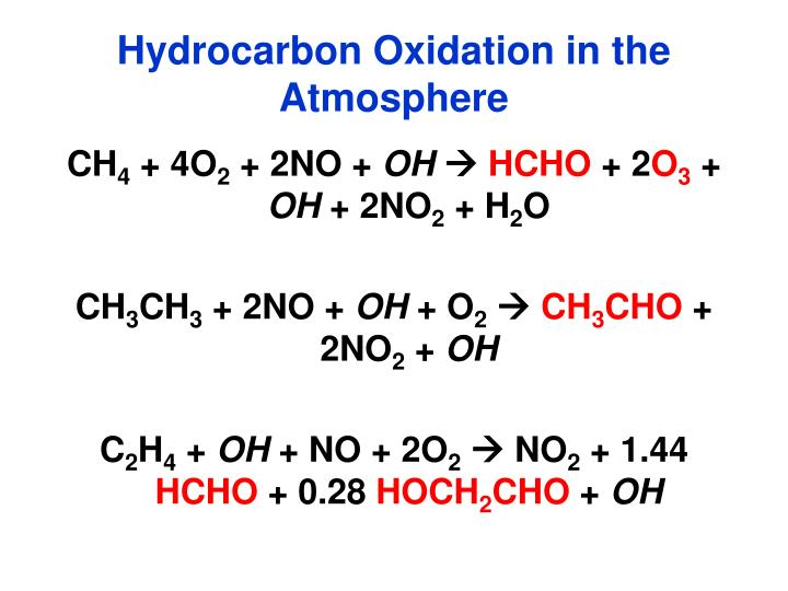 Hydrocarbon Oxidation in the Atmosphere