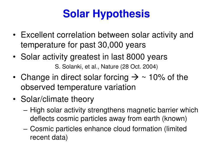 Solar Hypothesis