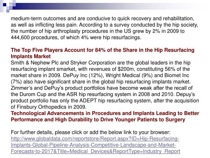 Medium-term outcomes and are conducive to quick recovery and rehabilitation, as well as inflicting l...