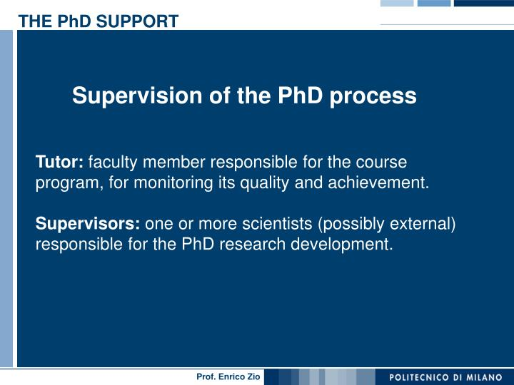 THE PhD SUPPORT