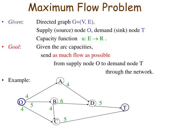 Maximum flow problem