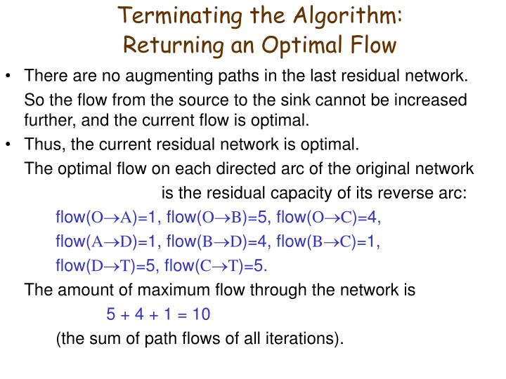 Terminating the Algorithm:
