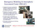 interagency modeling atmospheric assessment center imaac