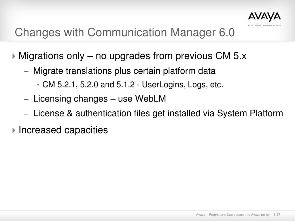 PPT - Avaya Aura™ Communication Manager Release 6 0 Overview