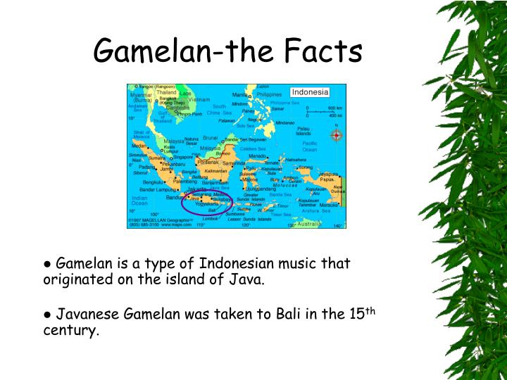 gamelan the facts n.