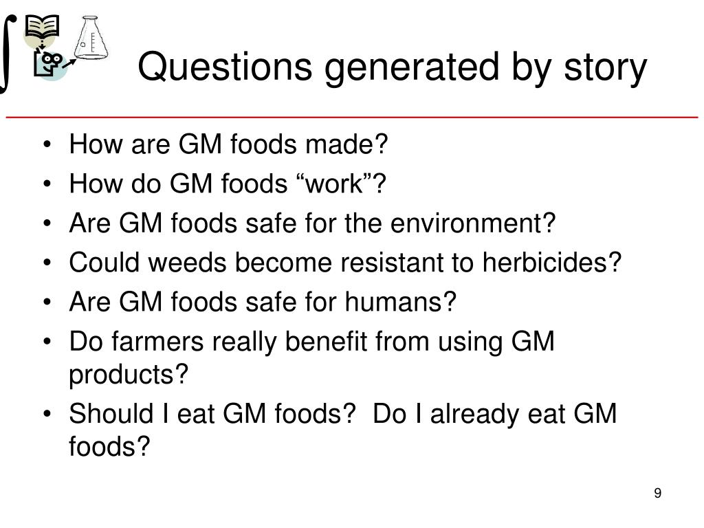 Questions generated by story