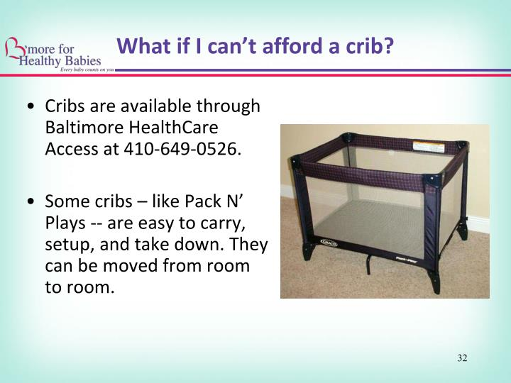 What if I can't afford a crib?