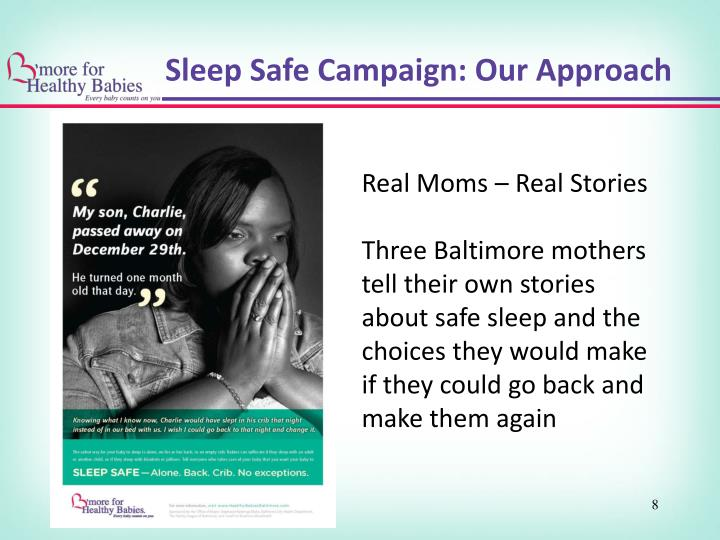 Sleep Safe Campaign: Our Approach