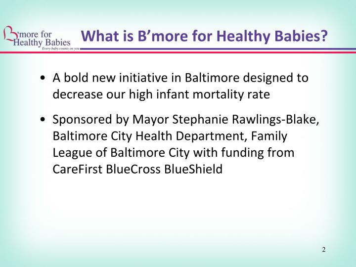What is b more for healthy babies