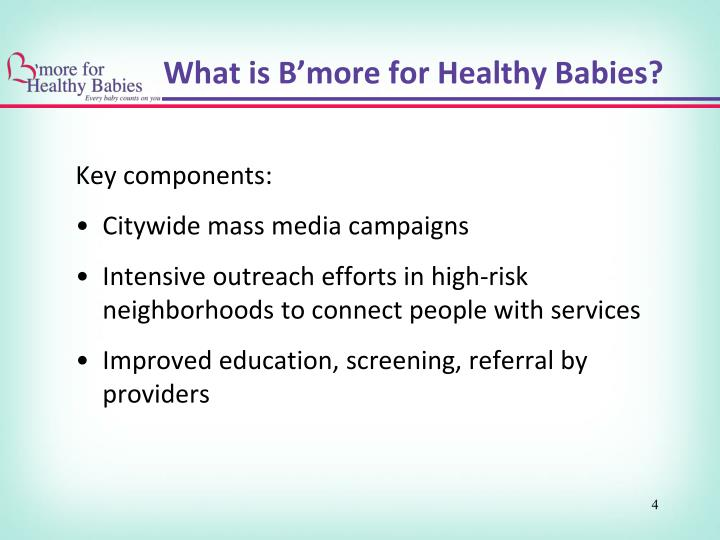 What is B'more for Healthy Babies?