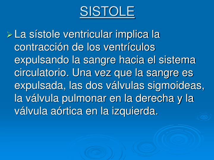 SISTOLE