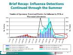 brief recap influenza detections continued through the summer