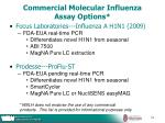 commercial molecular influenza assay options
