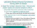 laboratory based influenza surveillance during 2009 10 season15