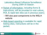laboratory based influenza surveillance during 2009 10 season18