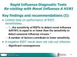 rapid influenza diagnostic tests re visiting with novel influenza a h1n140