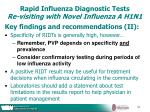 rapid influenza diagnostic tests re visiting with novel influenza a h1n141