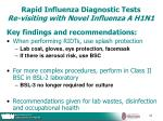 rapid influenza diagnostic tests re visiting with novel influenza a h1n143