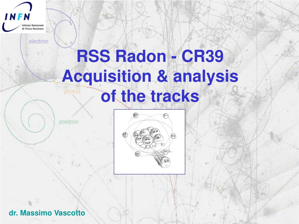 rss radon cr39 acquisition analysis of the tracks l.