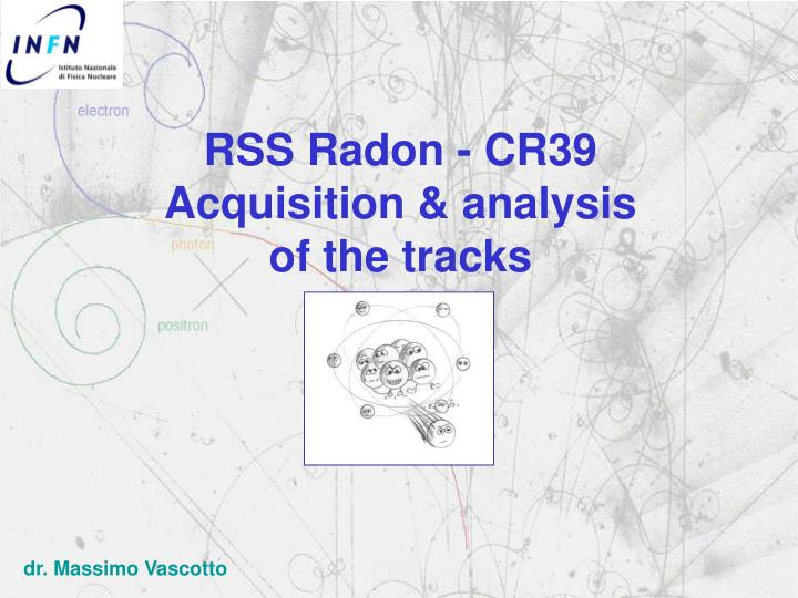rss radon cr39 acquisition analysis of the tracks n.