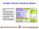example eventual consistency bayou