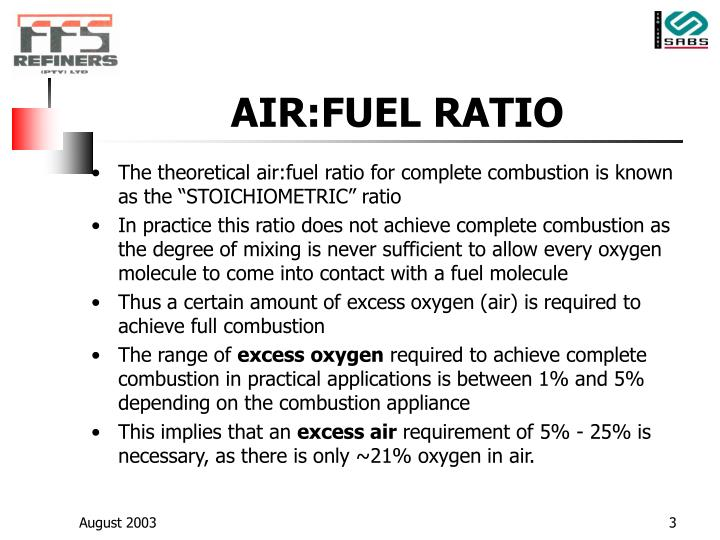 Air fuel ratio