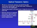optical tweezers optics