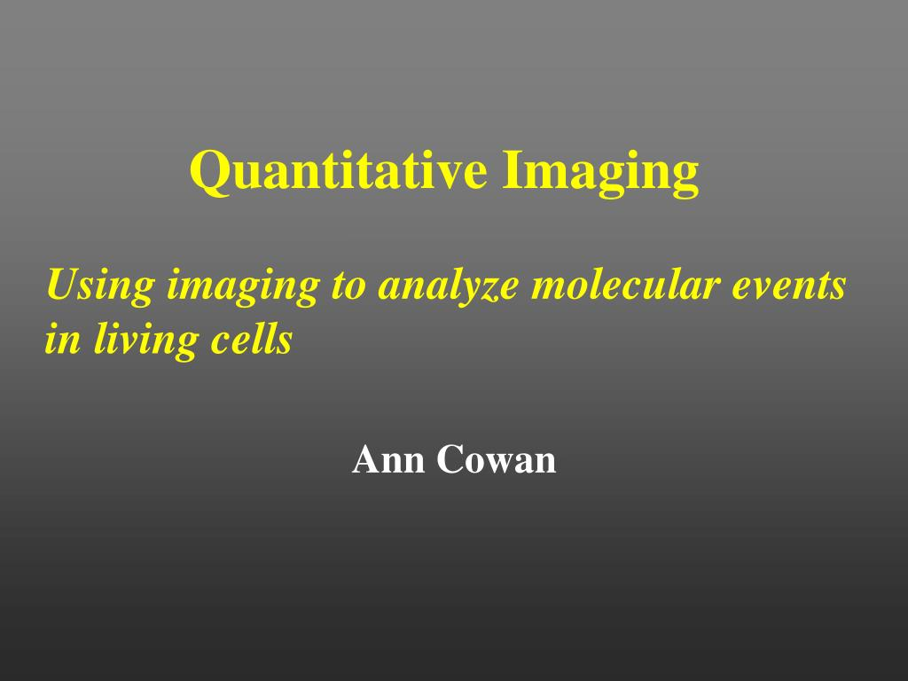 quantitative imaging l.