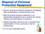 disposal of personal protective equipment