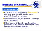 methods of control cont