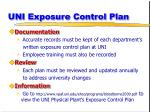 uni exposure control plan