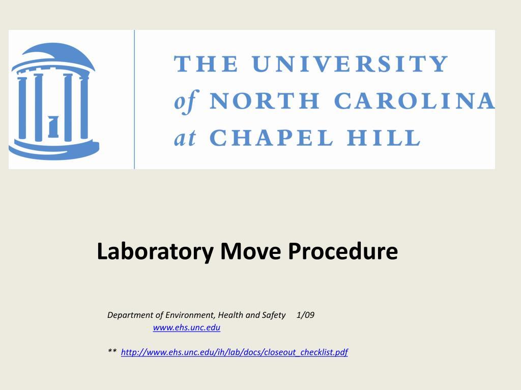 Laboratory Move Procedure