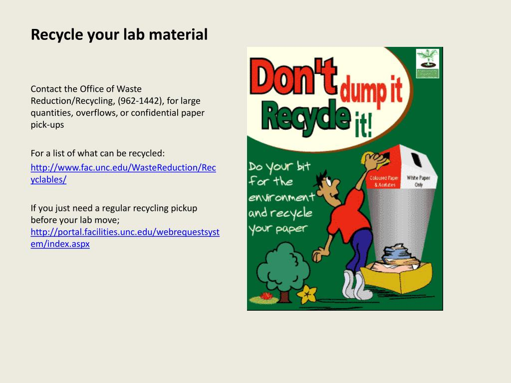 Recycle your lab material