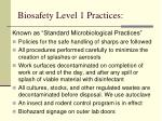 biosafety level 1 practices15