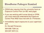 bloodborne pathogen standard45