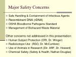 major safety concerns