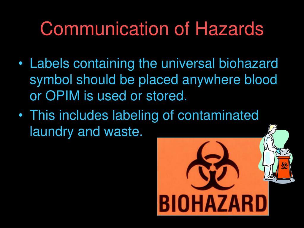 Communication of Hazards