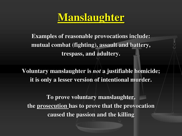 Example Of Voluntary Manslaughter Images Example Cover Letter For