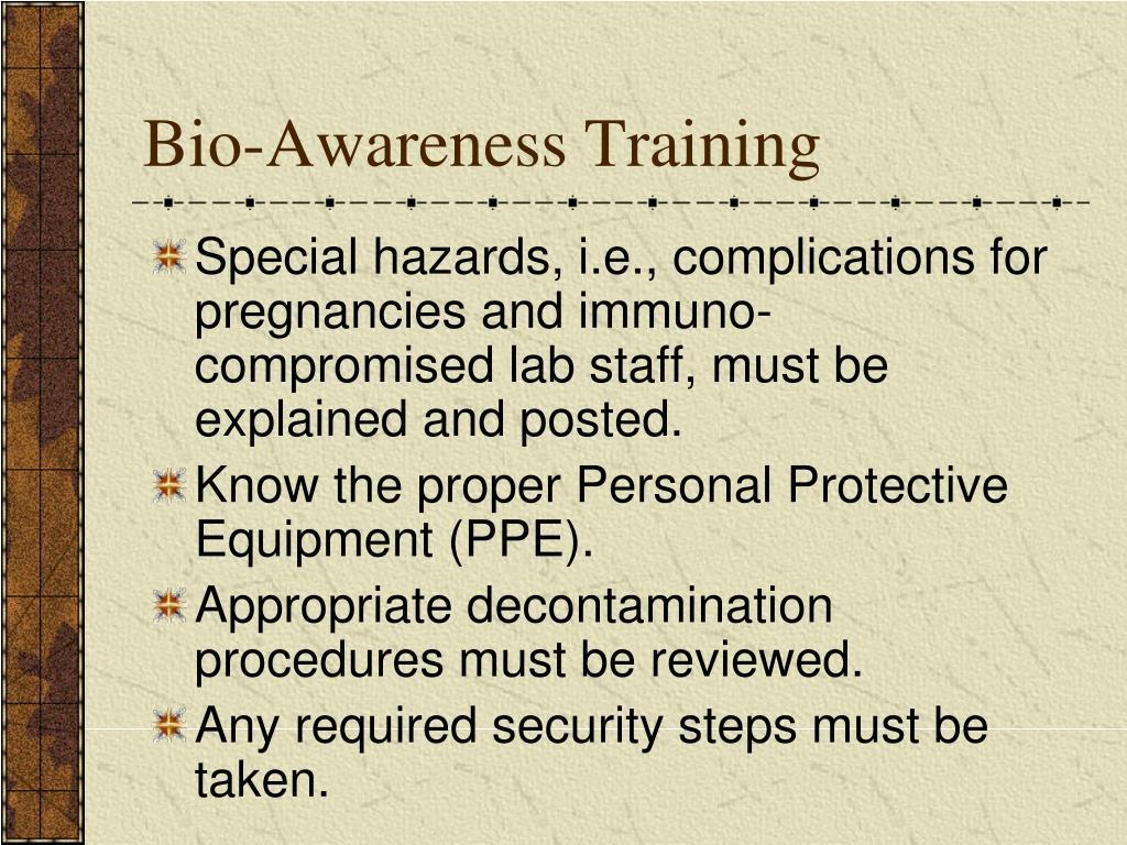 Bio-Awareness Training